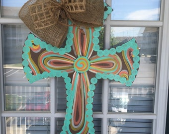 Whimsical Cross Door Hanger