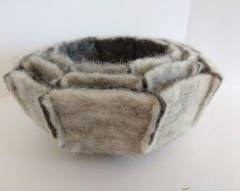 Nest of 3 felt bowls