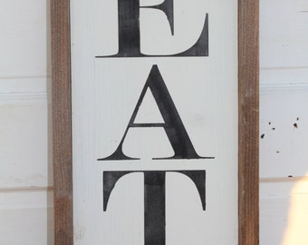 EAT handmade Kitchen Sign