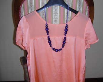 Purple Bead Necklace 09