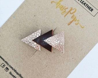 Genuine Leather Triangle Clip