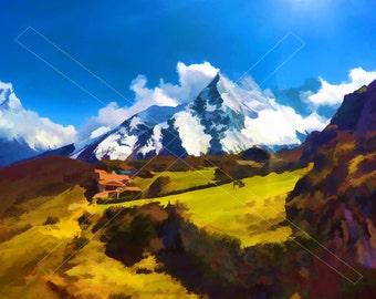 Digital -  Sunny day in Alps