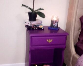 precious purple accent table