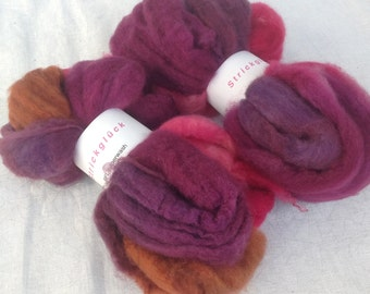 Hand-dyed combed tops BFL superwash Nr. 65