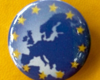 EU flag and map pin.
