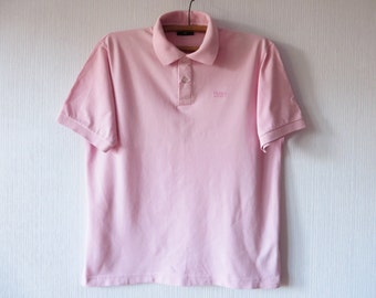 Hugo boss polo shirt etsy for Baby pink polo shirt