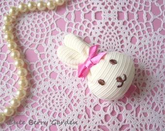 Stuffed Bunny Hair Clip