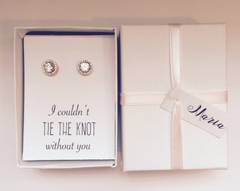 Bridesmaid Gift. Bridesmaid proposal. Bridesmaid earrings. Bridal Party Gifts