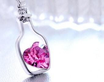 Bottle Gem Necklace