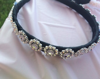 Pretty Embellished Black Headband