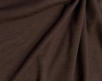 Loose Stitch Rayon Jersey Knit Fabric By The Yard (Wholesale Price Available By The Bolt) - 10003 New Brown - 1 Yard
