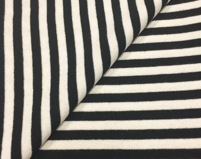 "100% Cotton 1/4"" Striped 1x1 Rib Knit Fabric"