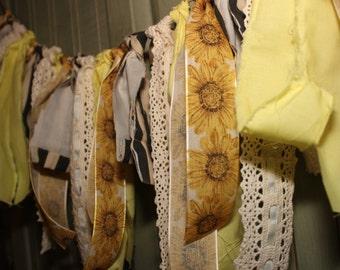 Sunflower Cloth Banner