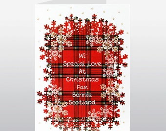 Scottish Christmas Card Wi Special Love WWXM68