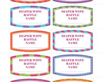 Diaper Wipe Raffle
