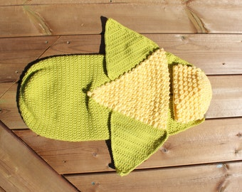 IN STOCK- Corn on the Cob Newborn Cocoon with Hat, Crocheted Newborn Bunting Cocoon for any occasion, Newborn Photo Prop
