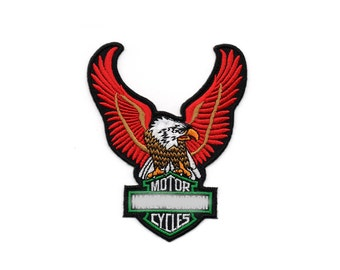 Vintage Red Motorcycle Club Hippie Eagle EOD Military Embroidered Sew Iron On Patches Patch Appliques Biker For Jackets