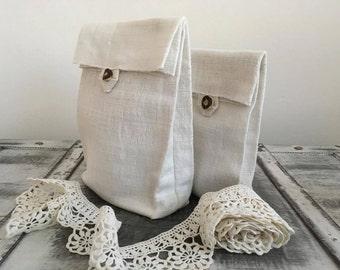 Natural linen bread bag , hand woven, picnic basket bread keeper storage bags, Eco friendly, rustic bag, organic food storage, eco sachet