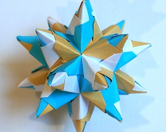 Origami star for interior decoration