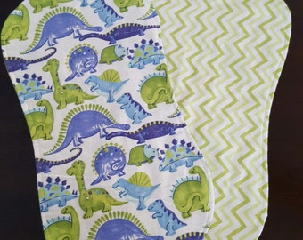 Flannel Contour Burp Cloth- Boy (options available)