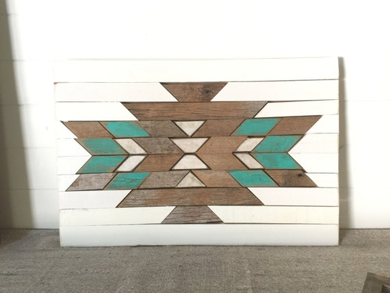 rustic reclaimed aztec wall hanging home decor