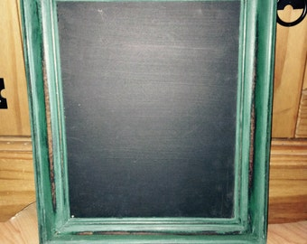 Shabby chic chalkboard Florence green