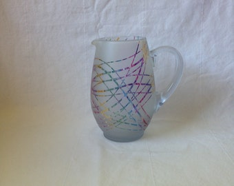 Confetti patterned round pitcher