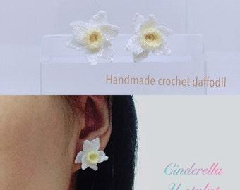 Handmade crochet daffodil, Handmade crochet