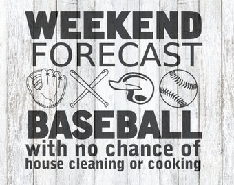 Weekend Forecast! Baseball! SVG File