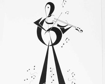 Violin Player Print