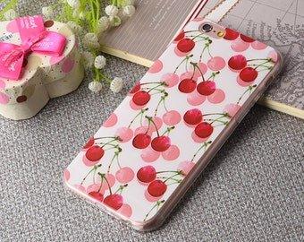 Red cherry iPhone 6 case,Red iPhone 6 case,iPhone 6s case, iPhone 6Plus, iPhone 6 case,Colored Drawing phone case, iPhone case