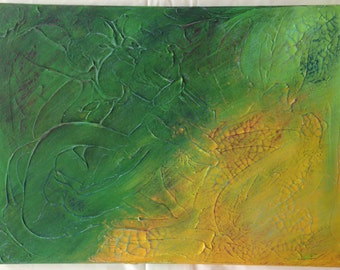 textured, abstract acrylic painting