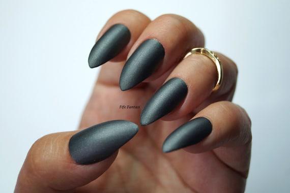 Grey stiletto nails nail designs nail art matte nails acrylic grey stiletto nails nail designs nail art matte nails acrylic nails kylie jenner fake nails false nails black nails press on nails from prinsesfo Images