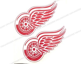 Detroit Red Wings Decals (2)