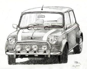 Pen & Ink Drawing, A4 - Mini
