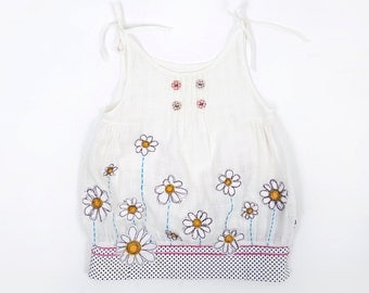 Daisy dress, flower dress, ivory dress, summer dress, Lala dress