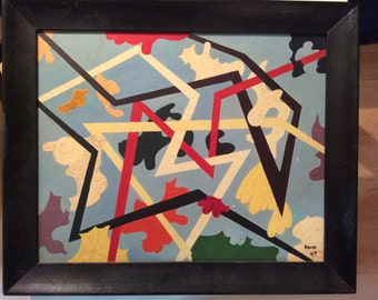 Vintage 1940s Abstract painting