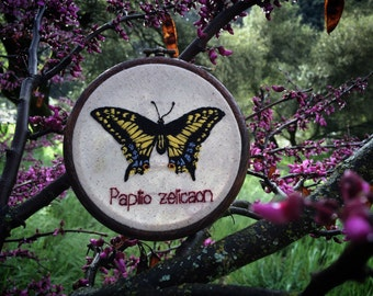 Swallowtail Embroidery Art