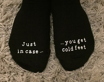 Wedding Groom Funny Gift Socks in case you get cold feet