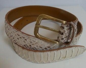 White Python belt