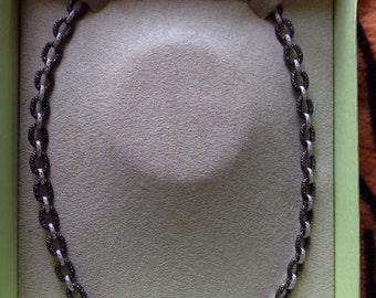 Black diamond necklace from Ross Simon