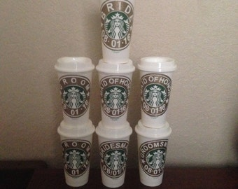 Personalized Starbucks cup for all occasions.these are genuine 16 oz starbuck cups.