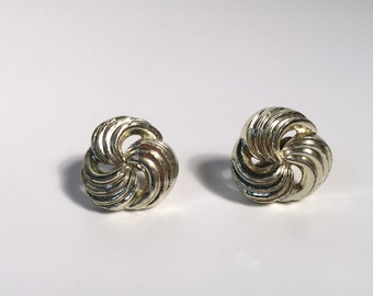 Vintage swirl clip-on earrings