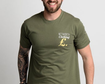 Networth One Khaki Green T-Shirt