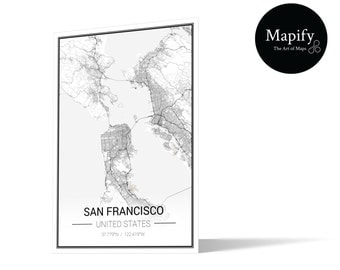 San Francisco Classic Map Print Poster -  Mapify Ultra Detail