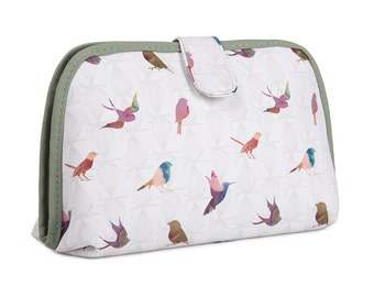 TaylorHe Toiletry Travel Wash Bag with Beautful Birds Pattern