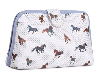 TaylorHe Toiletry Travel Wash Bag with Majestic Horses Pattern
