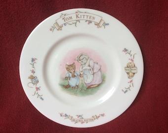 """Beatrix Potter """"Tom Kitten"""" Plate"""