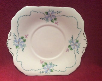 "C.W.S. Windsor Bone China Sandwich Plate 8.5"" x 8.5"""