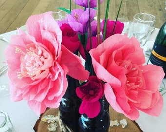 Paper Flowers Made To Order | Wedding | Gift | Centrepieces | Crepe Paper Flowers